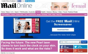 Mail Online - New Pearl Laser Treatment