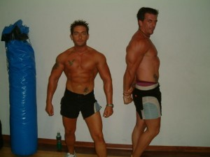 Men bodybuilders with hair free chests